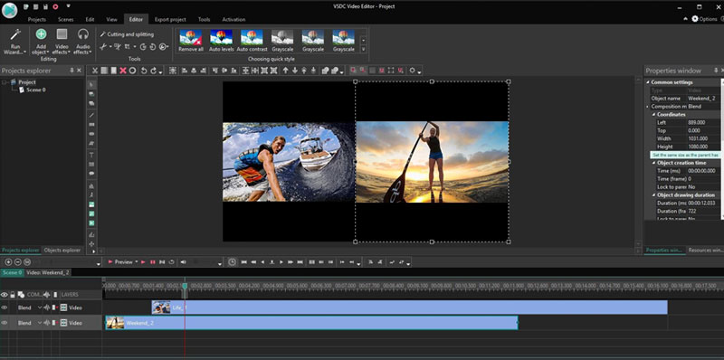 best free video editing software VSDC