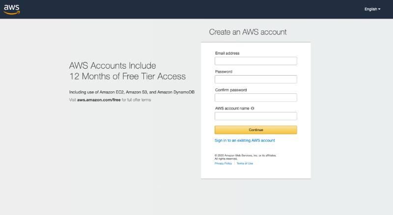 AWS Console Account SetUp